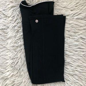 Lululemon leggings black size 6 wide leg